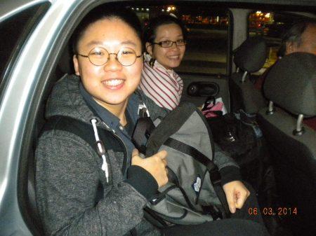 Arrivals from Hong Kong in Osvaldo's car