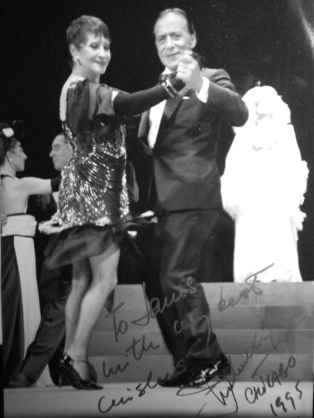 Maria Nieves y Juan Carlos Copes on stage in Buenos Aires