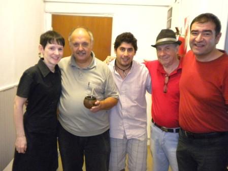 Jantango, Pichi Piccini, Ricardo Cabral (engineer), Chino Fanel, and Fidel Paternostro