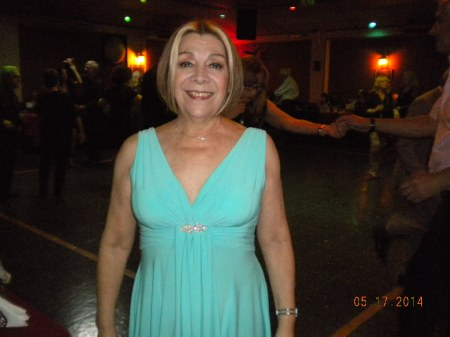 Celia Blanco celebrating her birthday on Saturday night.