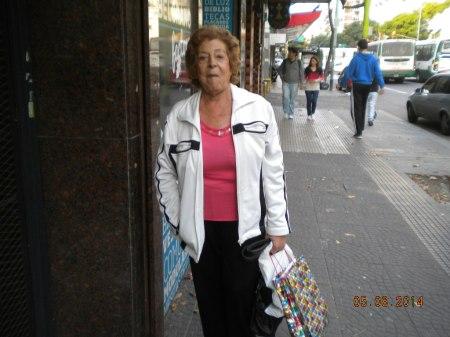 Tita Maciel en Av. Belgrano