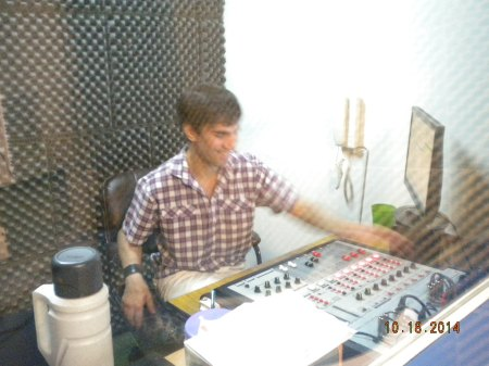 Renzo in the control room