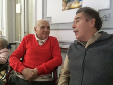 Alito and Juan Esquivel at Geriatrico Neuquen