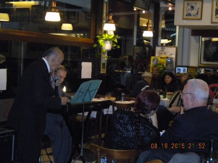 Juan Carlos Godoy (singer) & Jorge Dragone (pianist) in Café Gardel